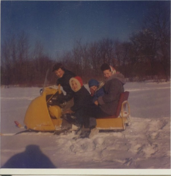 Newvine Family on their Snowmobile, Courtesy: Newvine Family Collection