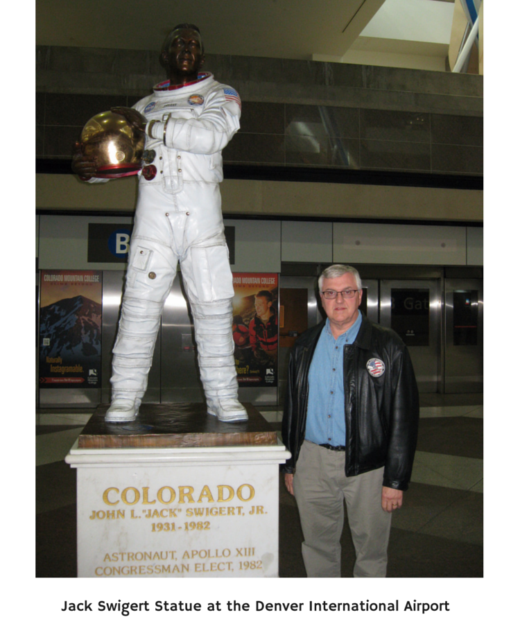Jack Swigert Statue at the Denver