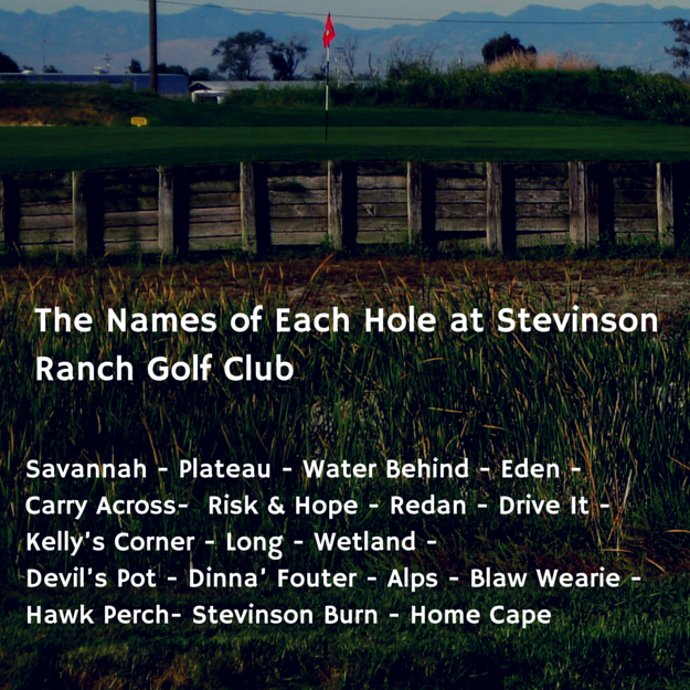 1.The Names of Each Hole at Stevinson