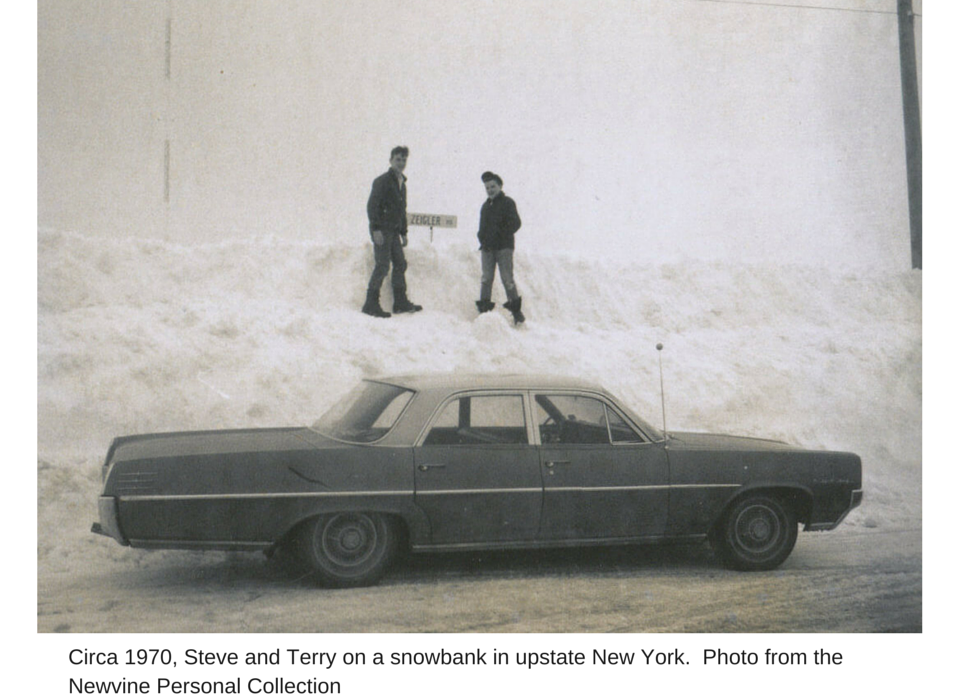 Circa 1970, Steve and Terry on a