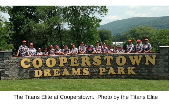 The Titans Elite at Cooperstown.  Photo