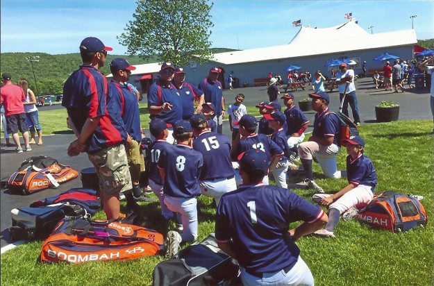 Titans Elite Players get ready for action at the Cooperstown tournament.  Photo by Titans Elite