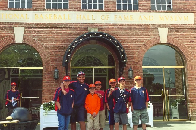 The Titans Elite outside the National Baseball Hall of Fame in Cooperstown.  Photo by Titans Elite