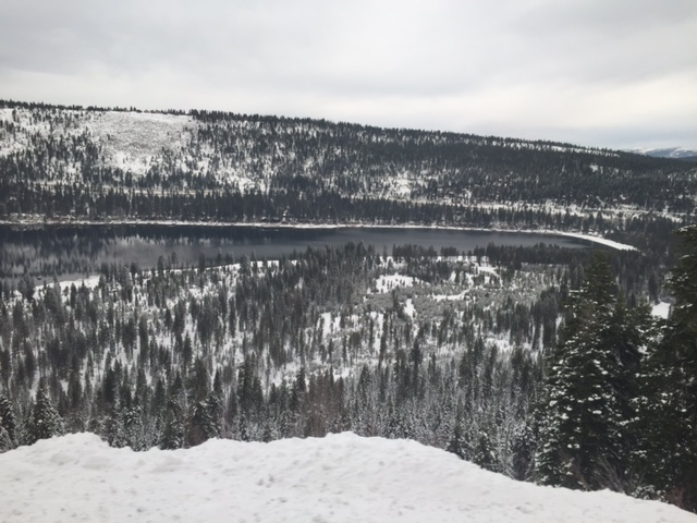 The California Zephyr follows part of the trail blazed by the Donner party. This is Donner Lake. Photo by Steve Newvine
