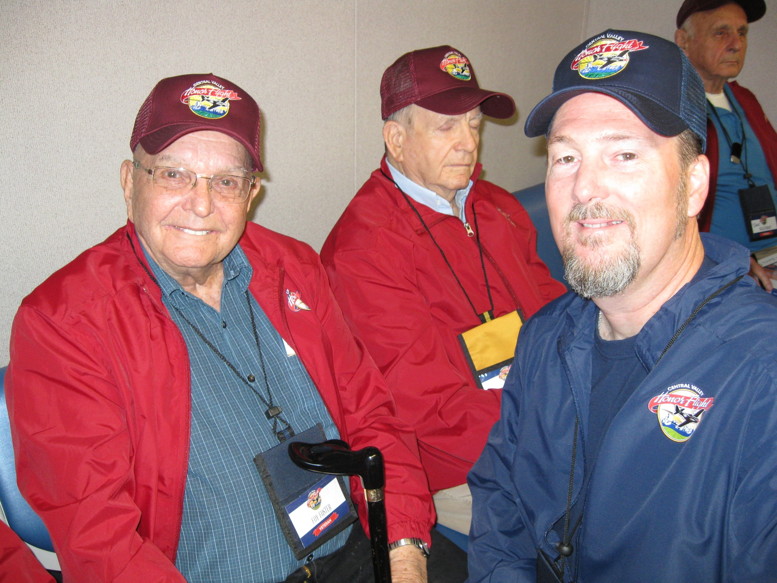 Foy Foster and his Honor Flight Guardian Jerry Jackson. Photo by Vaune Newvine)