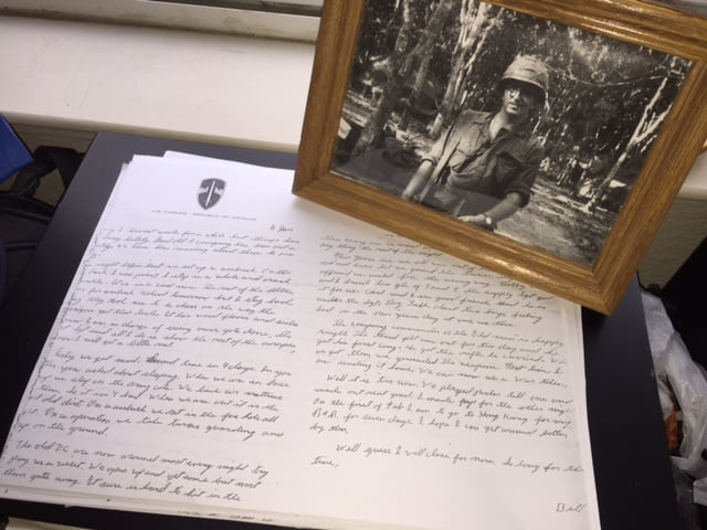Letters from the pen of Specialist 4 William Newvine. From the Newvine Family Collection.