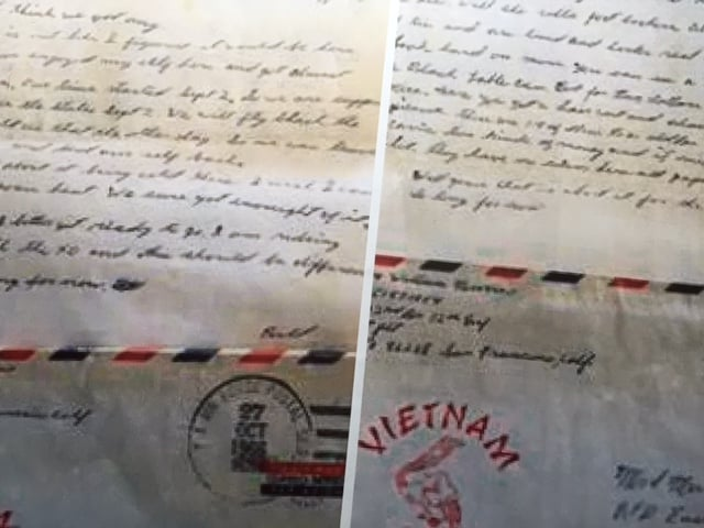 Letters arrived to my Aunt Betty at a rate of about two a month during the time Bill was in Vietnam. From the Newvine Family Collection.