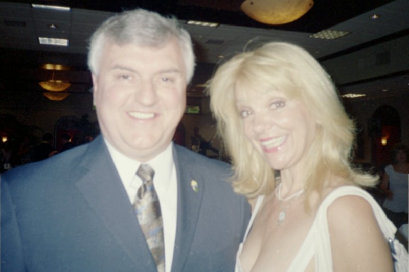 Actress Teresa Ganzel and Steve Newvine. Photo: Newvine Personal Collection