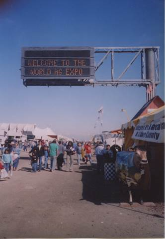 The World Ag Expo, Tulare County. Photo from Steve Newvine