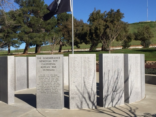 The Californian Korean War Memorial lists the name of every soldier from California who served in that war. Picture: Steve Newvine