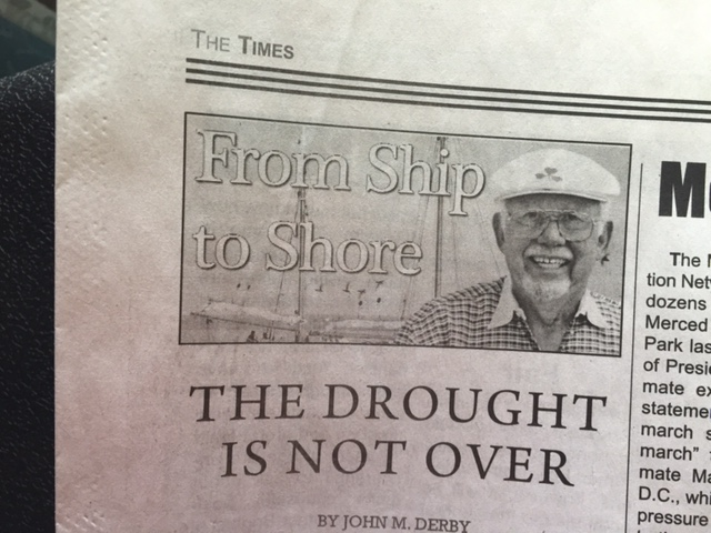 In addition to his publishing duties, John Derby writes a weekly column for the Merced County Times.