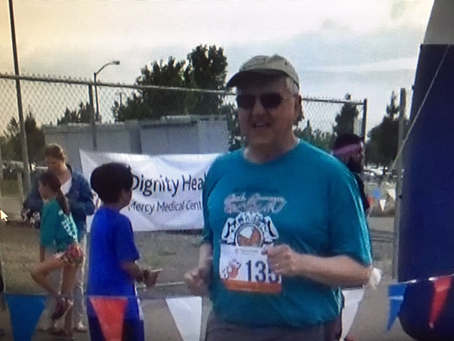 Eight months after the UC Merced 5K, another finish line. This time, the venue was the Mercy Medical Stroke Awareness 5K. Photo from the Newvine Personal Collection