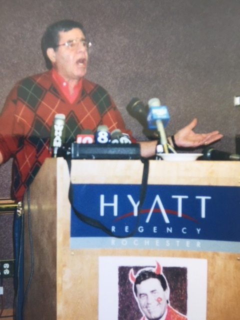Jerry Lewis in Rochester, NY in the mid-1990s. Photo: Newvine Personal Collection