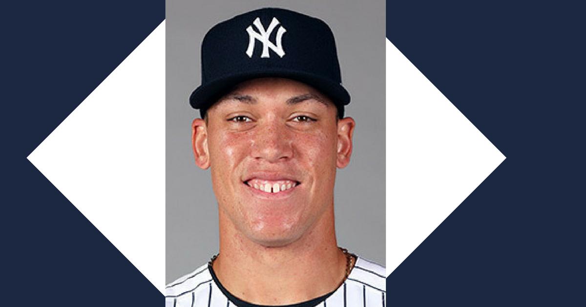 Aaron Judge's official Major League Baseball photo. Photo from MLB.com