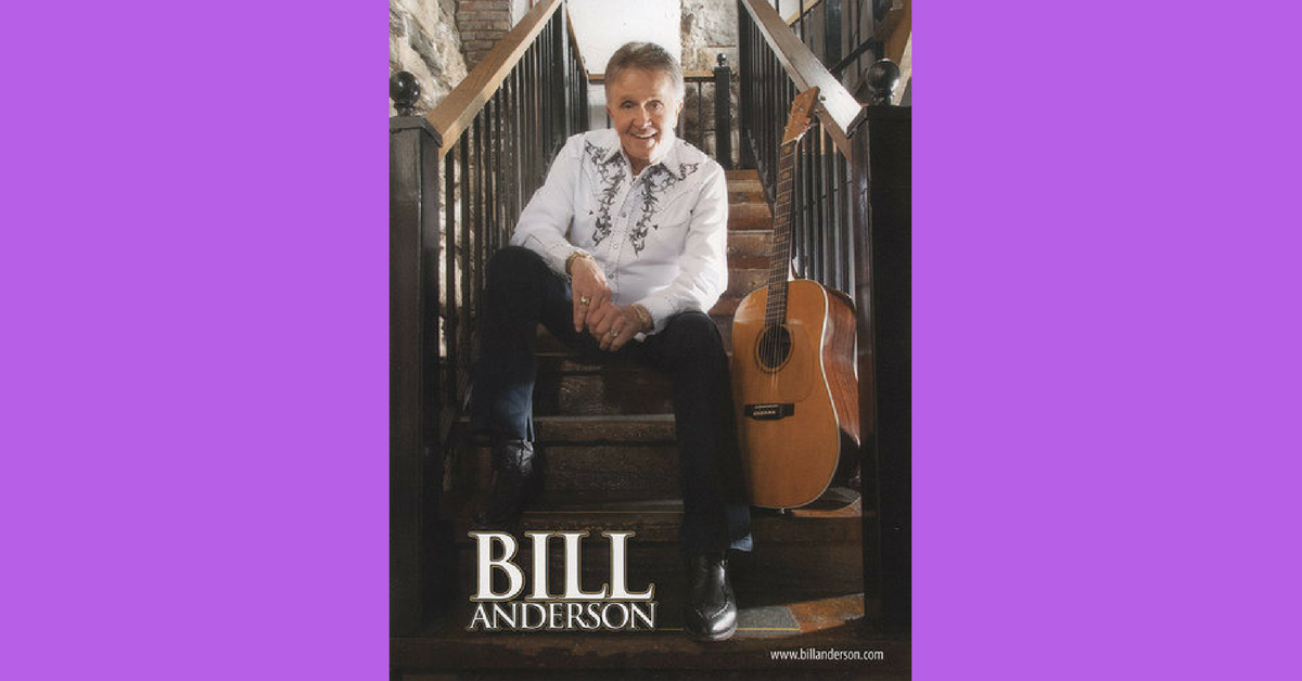 Country Music Singer and Songwriter Bill Anderson. Photo from Bill Anderson.com