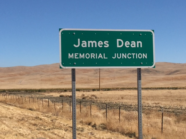 This sign was placed at the junction of highways forty-six and forty-one in Cholame, San Luis Obispo County, California. Photo by Steve Newvine