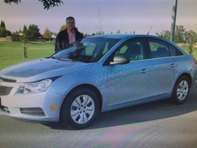 My trustworthy Chevy Cruze purchased new in Merced six years ago, turned over the 100,000 mile mark. Photo- Newvine Personal Collection