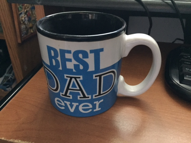 My daughters got me this mug a few years ago, and I promptly dropped it creating a crack and making it useless for beverage holding.  Photo- Newvine Personal Collection