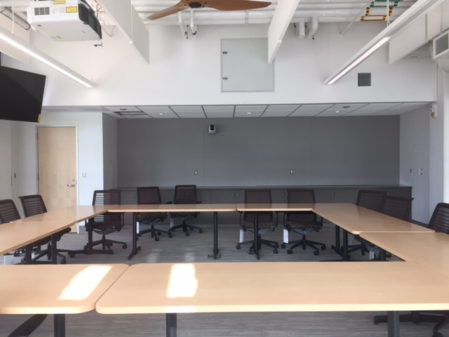 The meeting space in the UC Merced Downtown Campus Center was designed for the specific needs of each department using the building.  Photo:  Steve Newvine