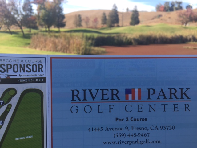 River Park Golf Course was a par-27 course below the cliff where Children's Hospital Central California stands.  Photo by Steve Newvine