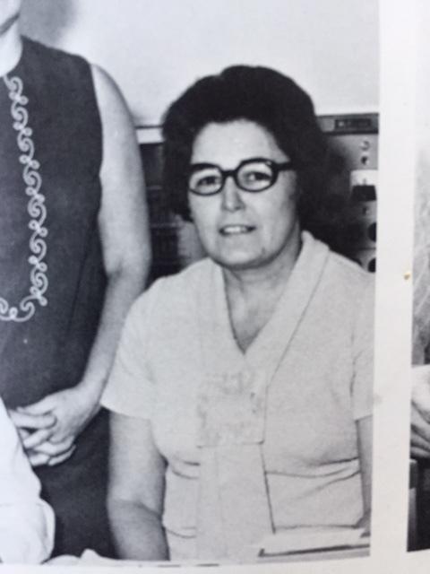 Mrs. Mekkelson, our high school principal's secretary. Photo: South Lewis School Yearbook.