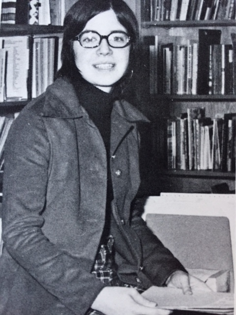 An early picture of Christine Allen (now Christine Chaufty). She would soon return to the school after graduation in 1971 and build a forty-seven year career in the administrative offices. Photo: South Lewis year book.