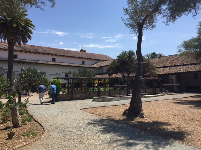 The grounds of the Mission at San Juan Bautista in San Benito County in California. Photo by Steve Newvine