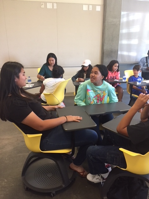 The Summer Enrichment Program of Harvest Park Education Center is providing learning opportunities on two levels- the grade school children participating in the five-week sessions, and the UC Merced interns who are gaining experience working with children.  Photo by Steve Newvine