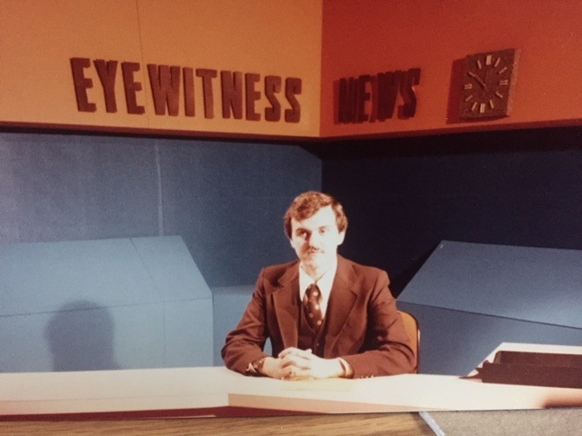 This picture was taken shortly after I started my television news job in Binghamton. Photo: Newvine Personal Collection
