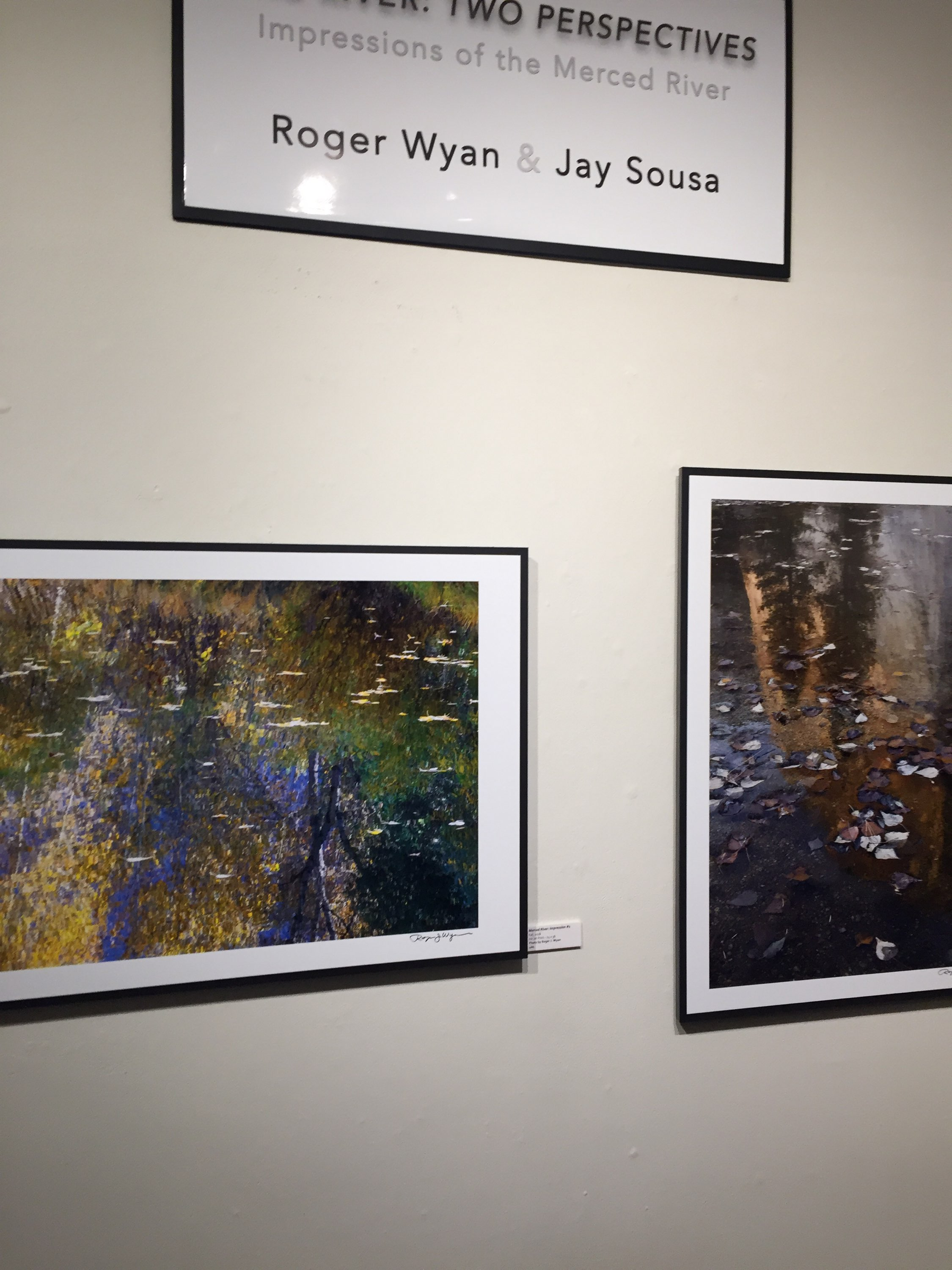 The photography exhibit One River, Two Perspectives is running at the Merced College Gallery through March 21. Photo: Steve Newvine