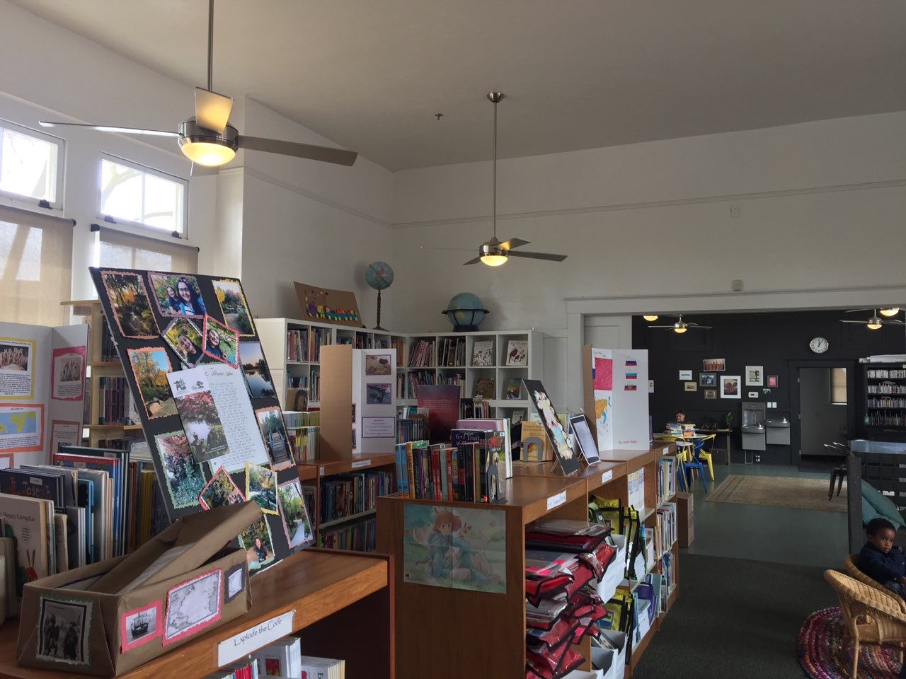 The former Venice School is now a library that supports the enrichment activities for the Eleanor Roosevelt Learning Center. Photo- Steve Newvine