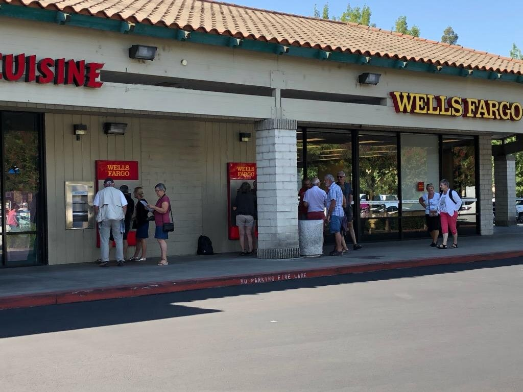 Another reason why the Raley's stop is attractive to visitors is access to the ATM in front of the Wells Fargo Bank. Photo: Steve Newvine