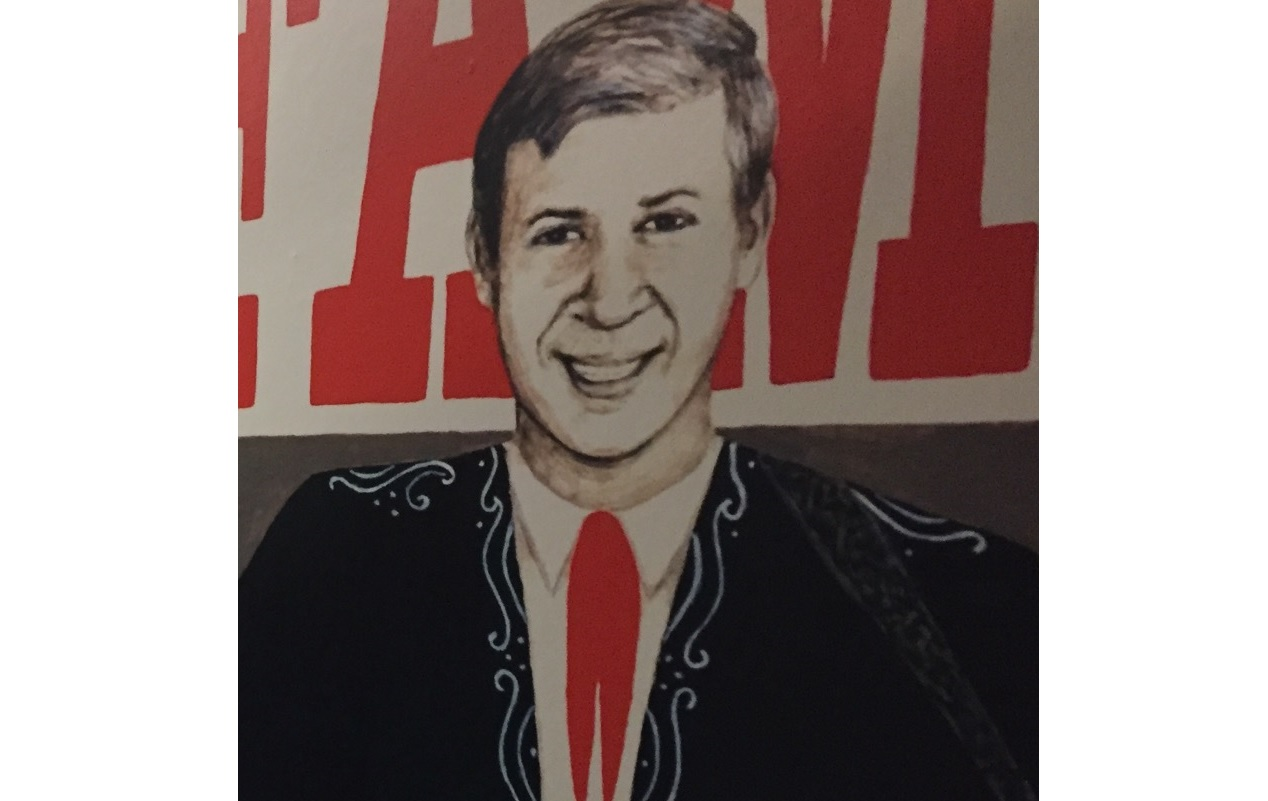 Country music legend Buck Owens' likeness as showcased at the Bakersfield Music Hall of Fame.