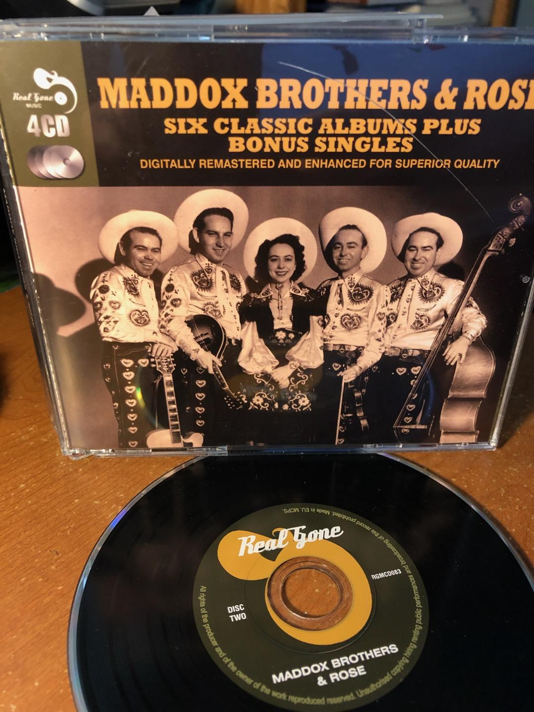 The country singing group Maddox Brothers and Rose settled down in the Modesto area for most of their music career.