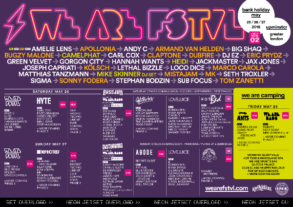 We Are FSTVL Lineup