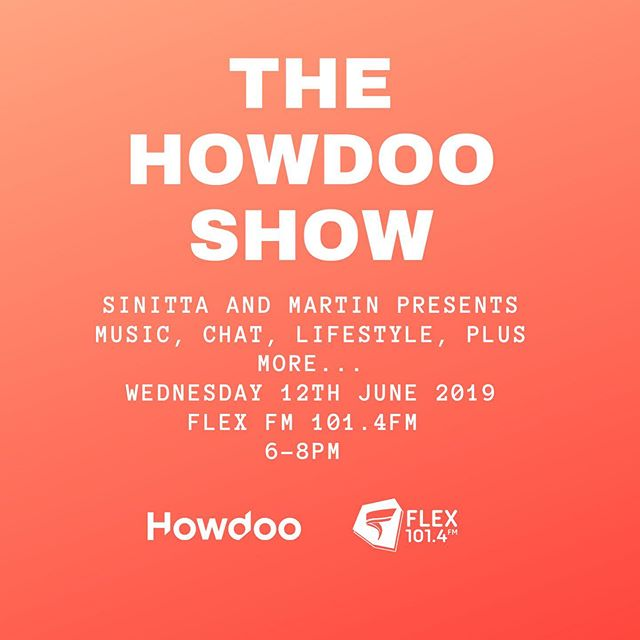 Join myself and @thesinittaofficial for the @howdoo_hq Show on @flexfmuk tomorrow featuring great new music and guests @iamstacyfrancis and @themartiniguy who will chatting with Howdoo's own @jasondsibley #howdoo #socialmedia #flexfmuk #music #newmusic #rnb #housemusic #pop #soul #80smusic #90smusic #00smusic