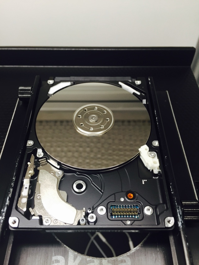 320GB Toshiba with the heads removed