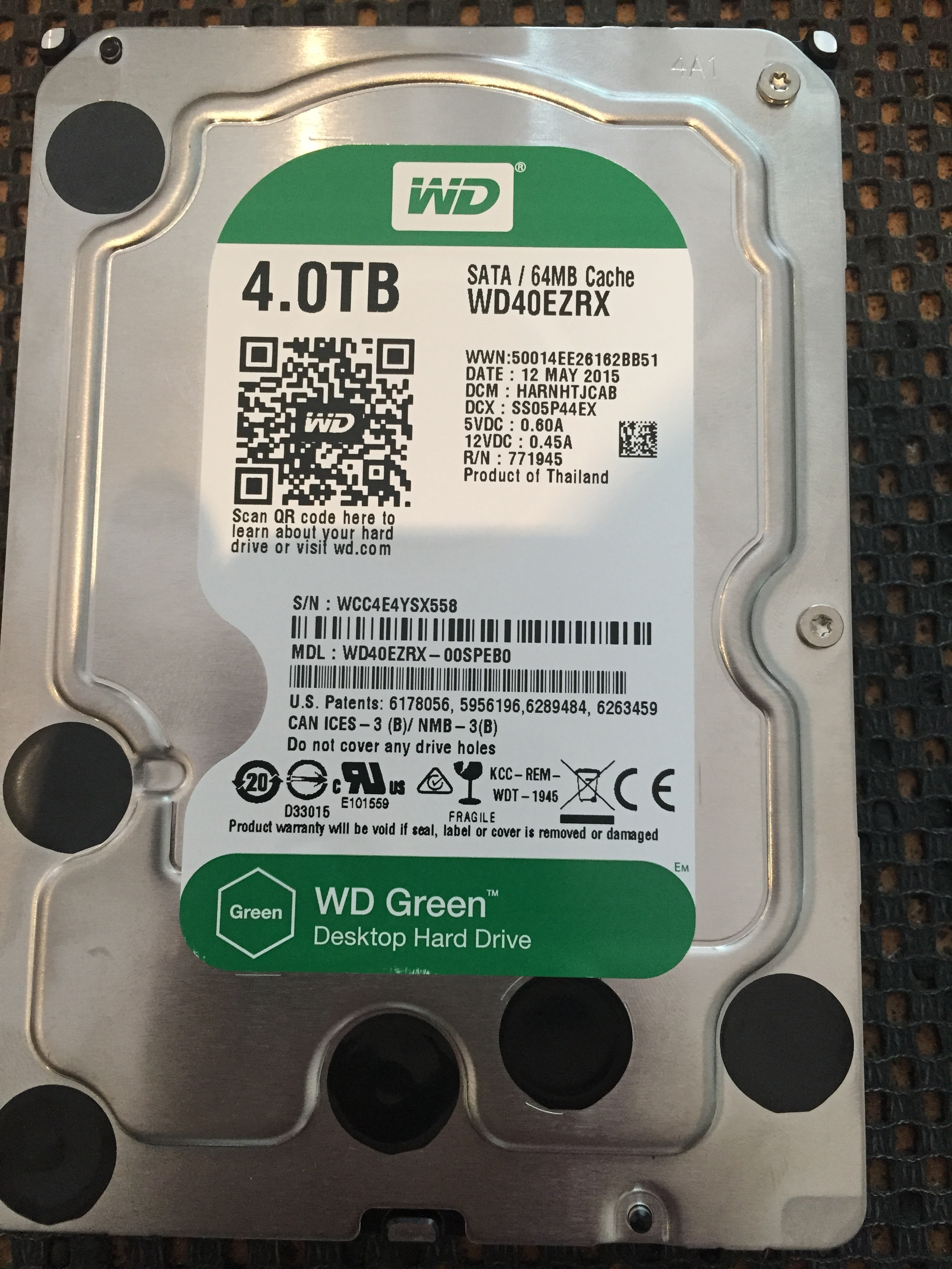 For Data Recovery on this clicking western digital 4TB we need to open it up and change the heads (little parts inside that read the data) When they are dropped these parts take the most damage and stop reading data. We need to replace them with good ones.