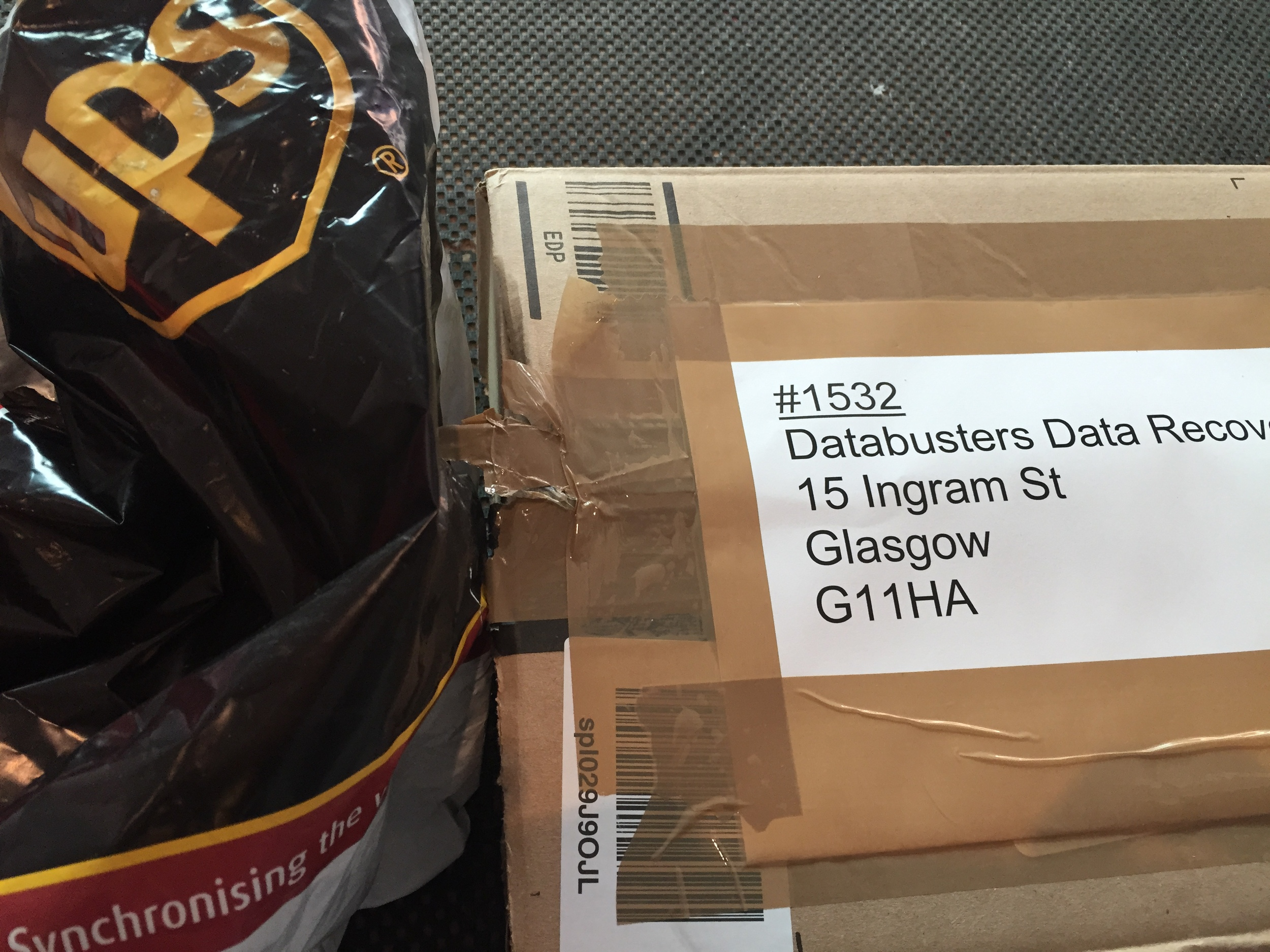 The bulk of drives I get sent are sent in from north of Scotland, England (some from Ireland) and abroad, I use UPS and DHL. The local ones I ask that they come and see me personally so we can look at a drive together. I prefer it that way.
