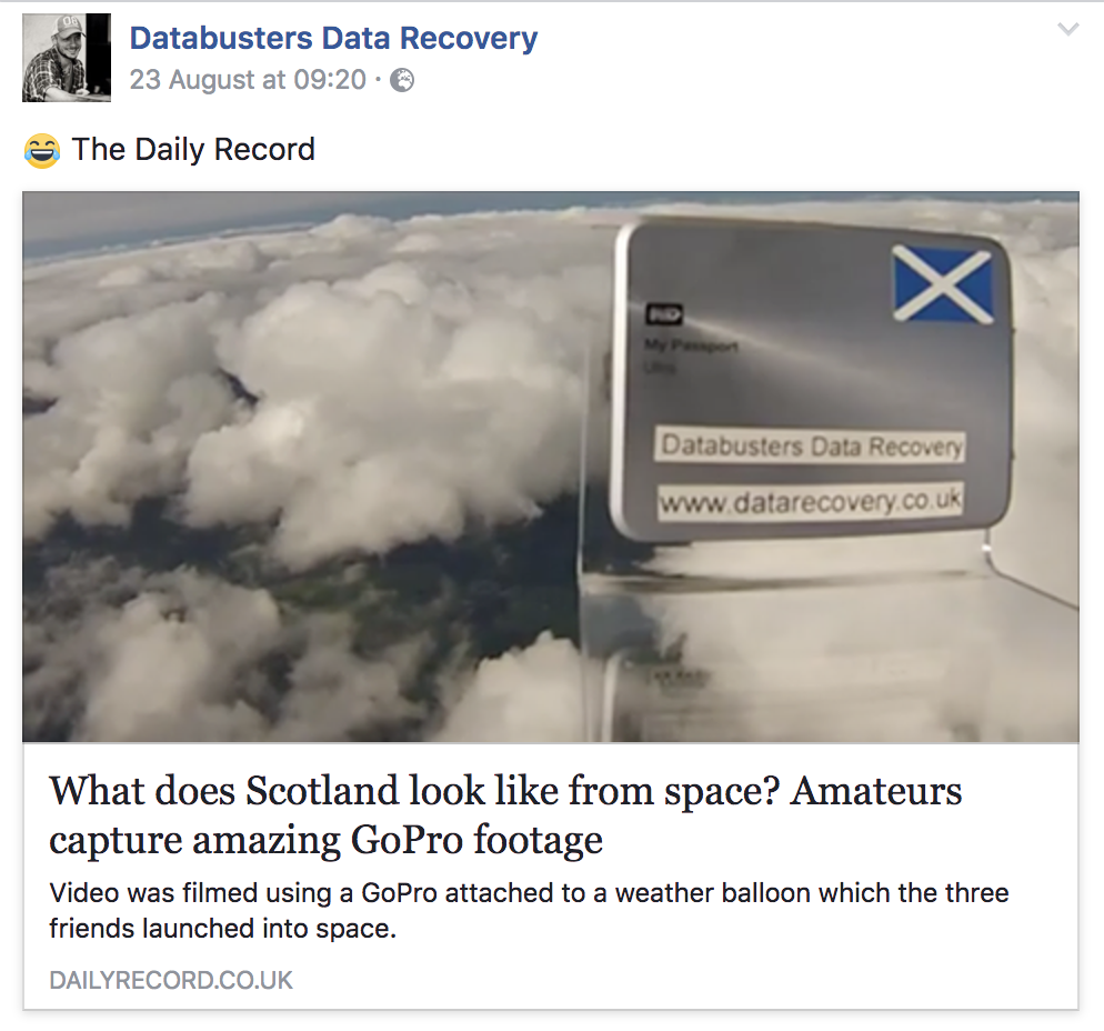 Daily record space balloon