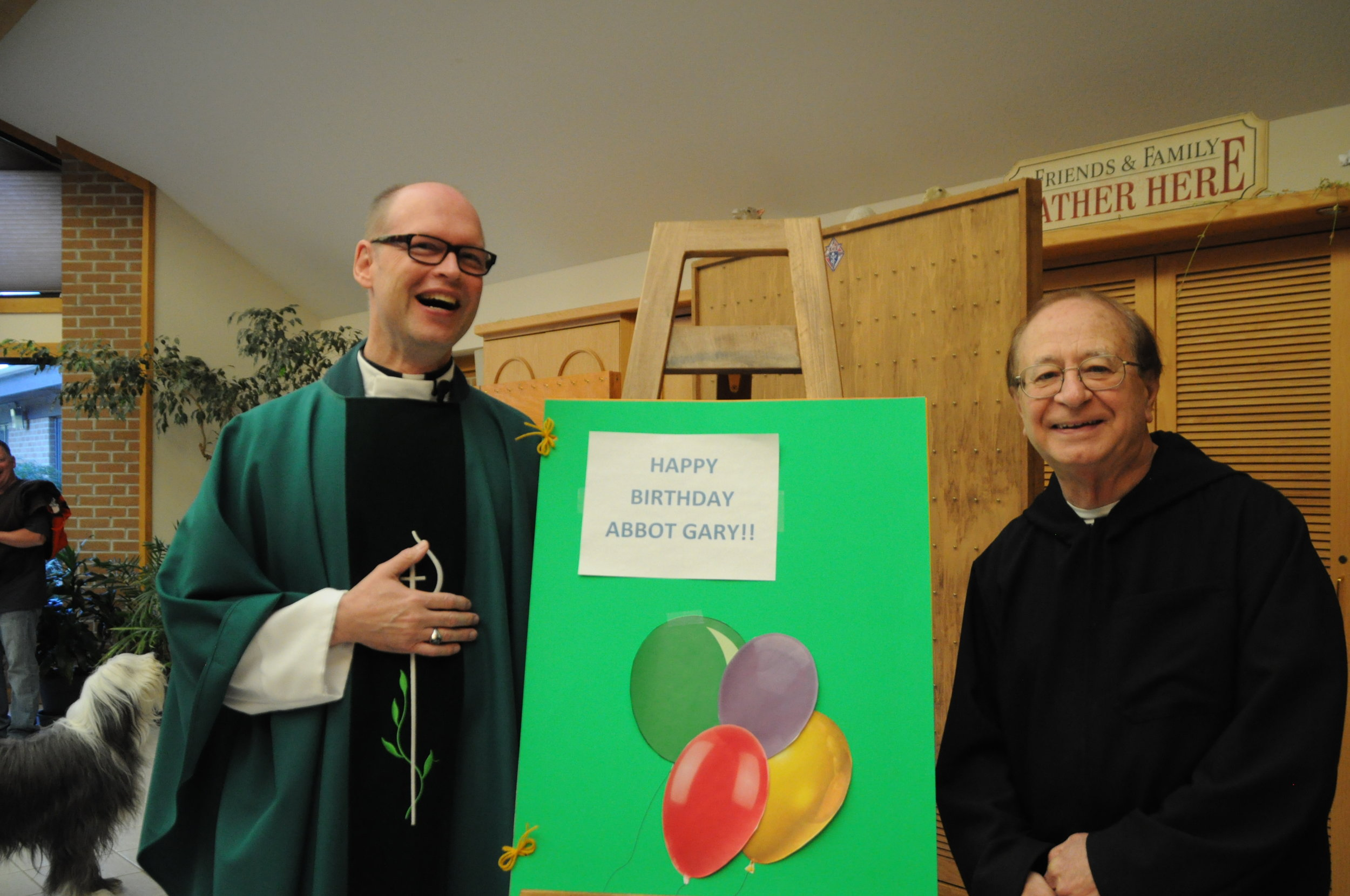 Abbot Gary Hoover & Father Krizner