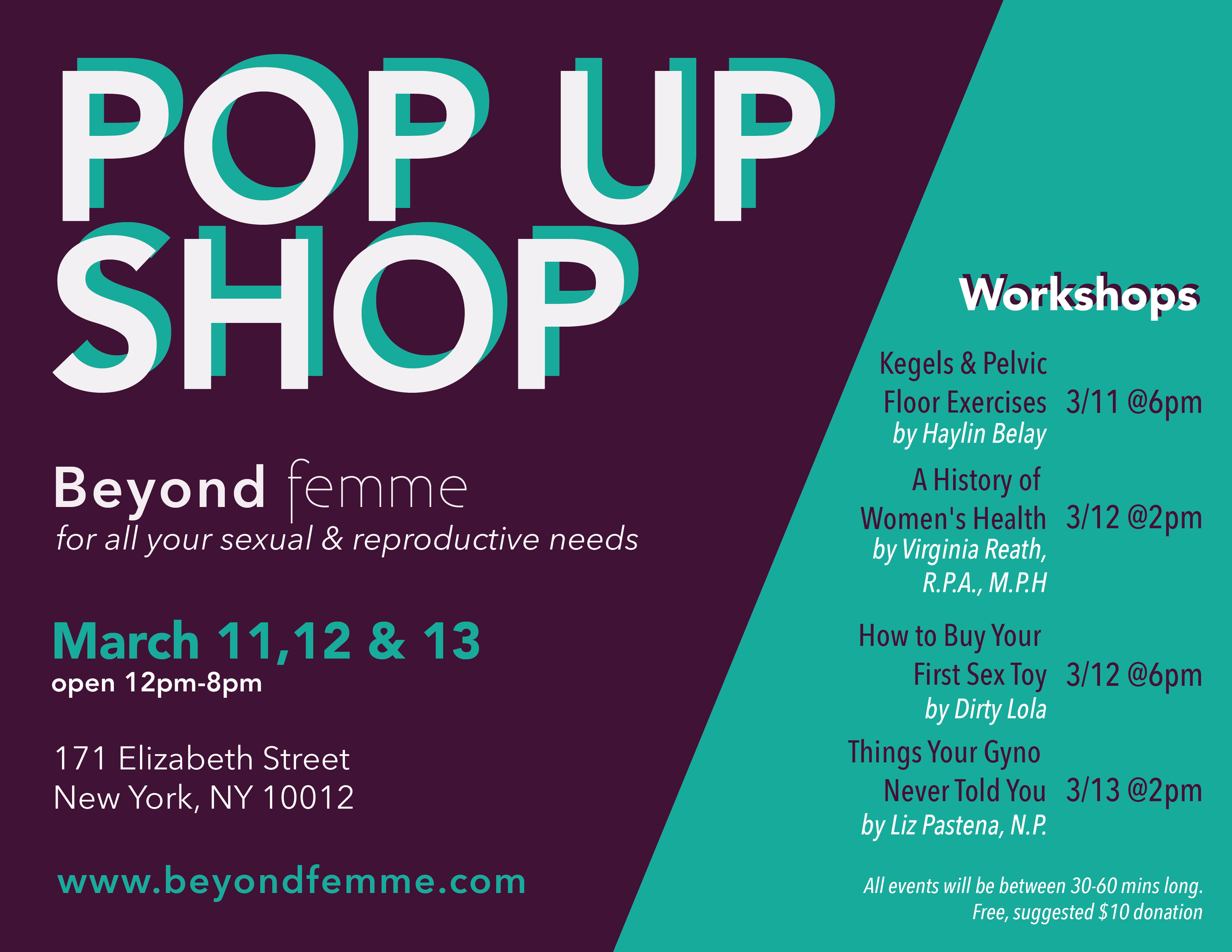 Beyond Femme Pop Up Shop, miLES.city