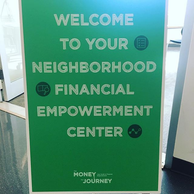 Setting up a #Popup neighborhood financial empowerment center with the @parsonsschoolofdesign #desis team at Neighborhood Trust Partners in #washingtonheights