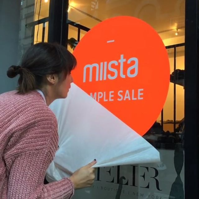 @miistashoes is back with us for their 3rd #popup sample sale! Don't miss this fashion-forward brand from Hackney London   today till Sunday from 10am - 7pm at 81 Hester St !