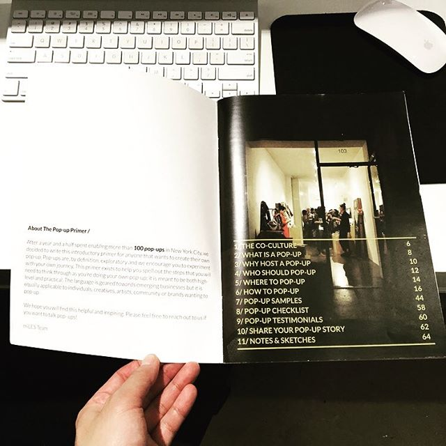 FREE 60-PAGE GUIDE OF HOW TO MAKE YOUR OWN POPUP👉 www.miles.city/primer  After three years enabling more than 150 pop-ups in New York City, we decided to write this introductory primer for anyone that wants to create their own pop-up. Pop-ups are, by definition, exploratory and we encourage you to experiment with your own journey. This primer exists to help you spell out the steps that you will need to think through as you're doing your own pop-up; it is meant to be both high-level and practical. The language is geared towards emerging businesses but it is equally applicable to individuals, creatives, artists, community or brands wanting to pop-up.  We hope you will find this helpful and inspiring!