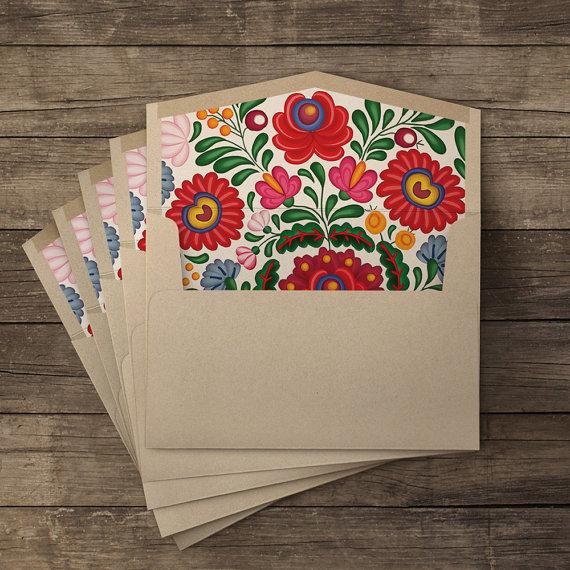 iinviteyou   Huipil lined envelopes // $13.00