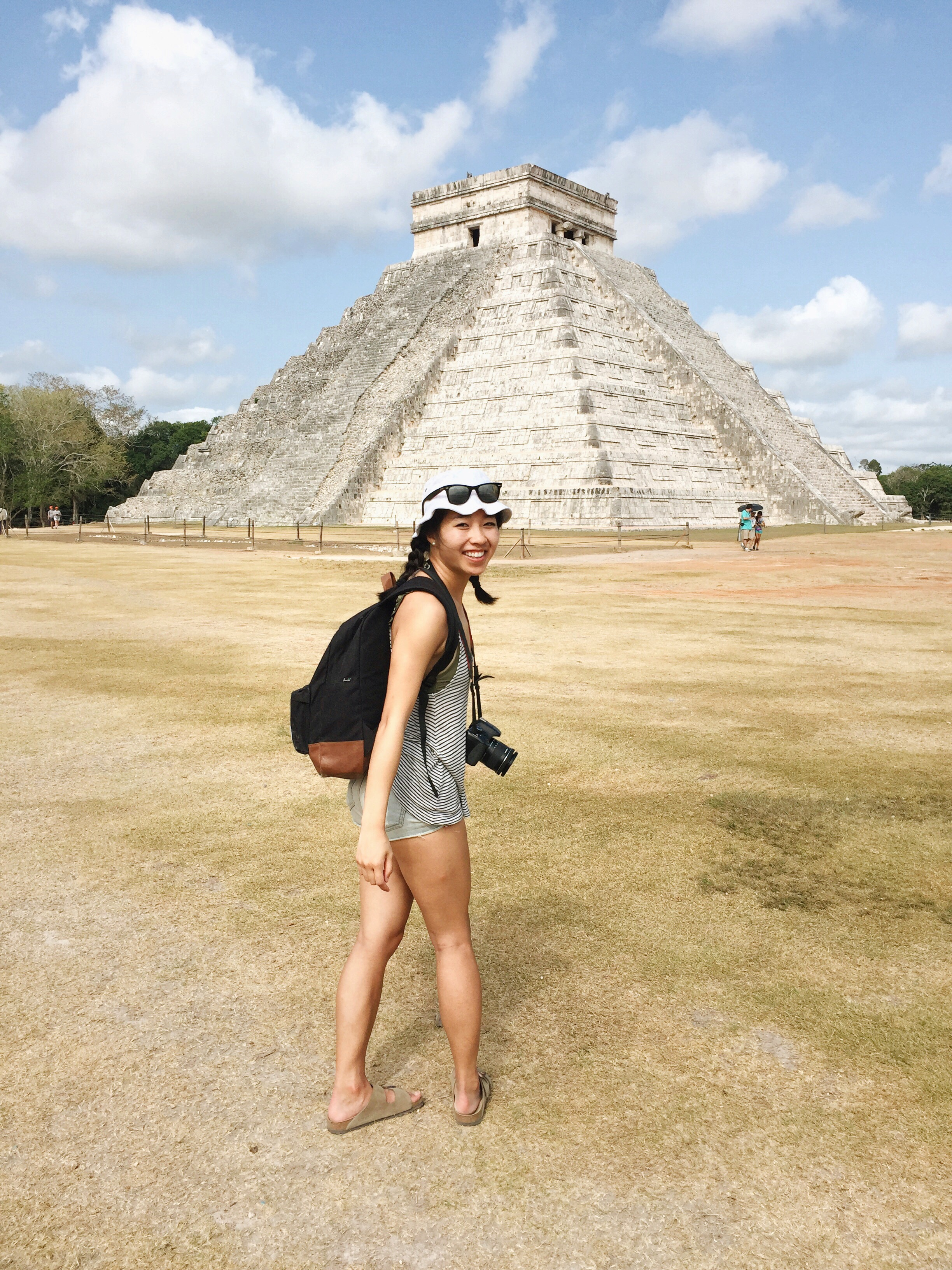 Pictured: Natalie visiting the Chichen Itza ruins.