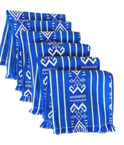 MesaChic    Woven Mexican Napkins, Set of 6, Tribal Colorful Blue // $19.95