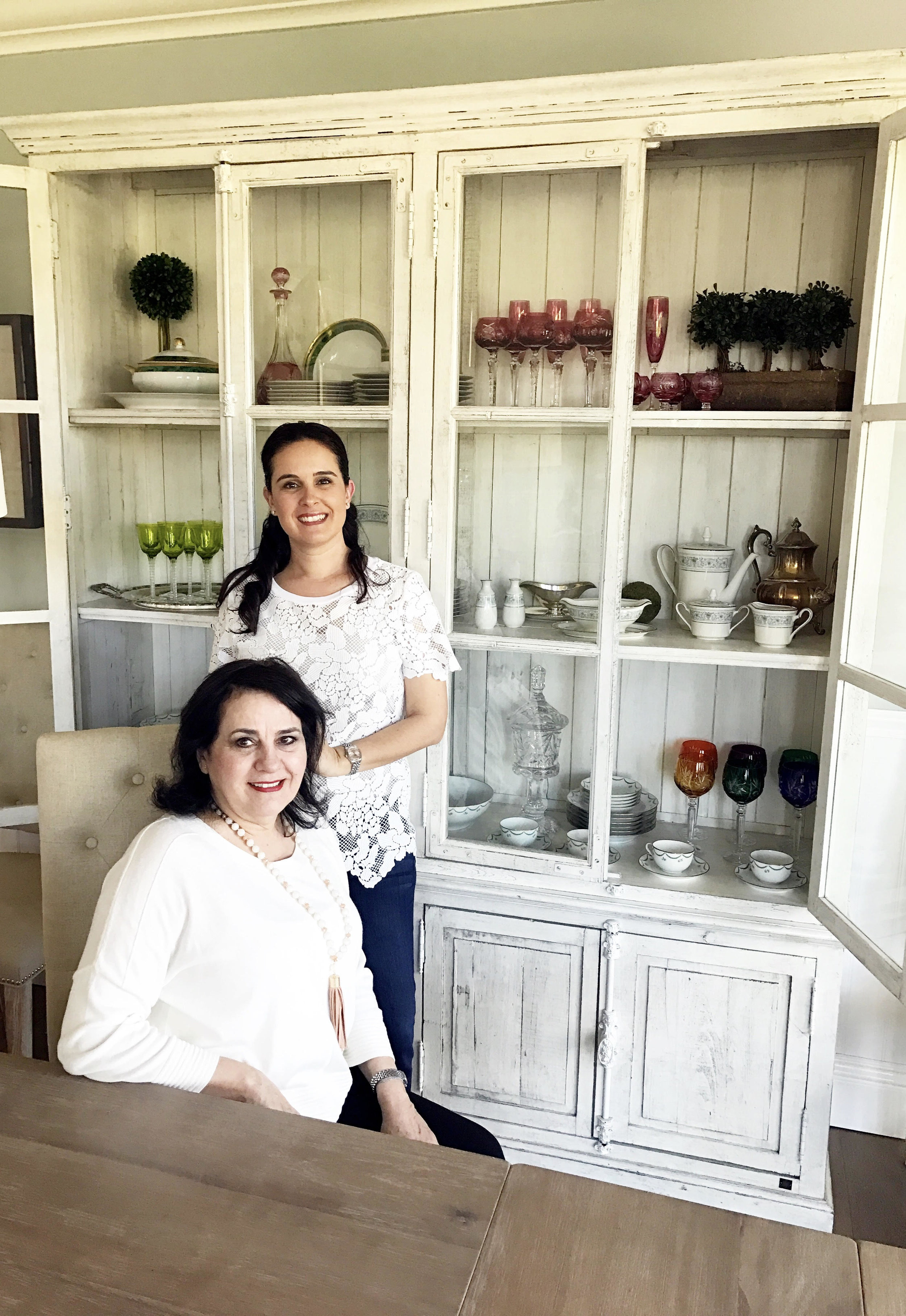 Luisa (r) and her mom Luz Elena (l) at home.    (Photo Courtesy:   mesachicparties.com  )