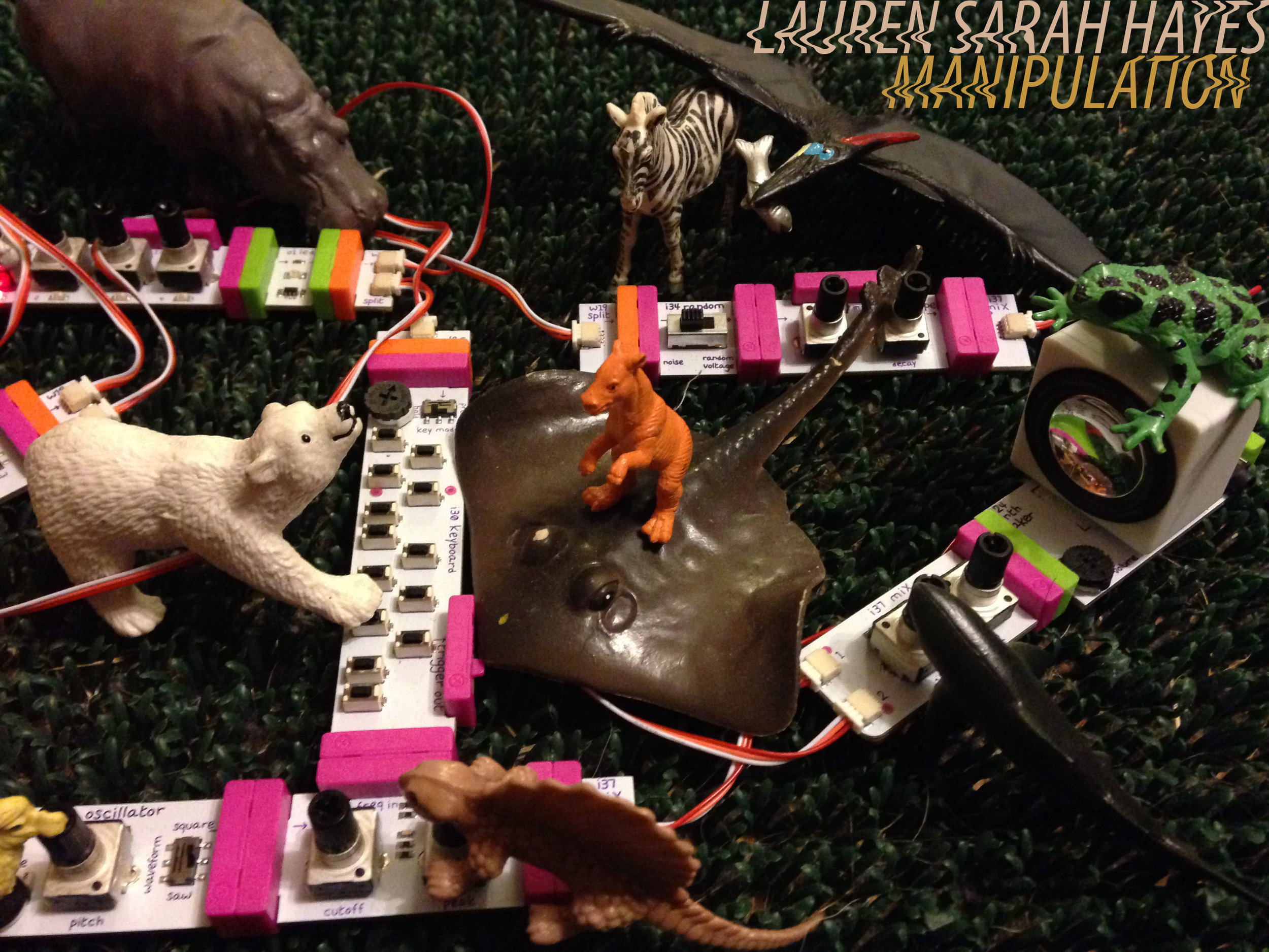 MANIPULATION is a collection of unedited one-take improvisations performed on unpredictable ecological hybrid analogue/digital/human systems. instability arises from the fragilities of touch-based engagement and mutually affecting relationships within the technology. performed 2008 – 2016.  all music by lauren sarah hayes.  release date: september 15, 2016.